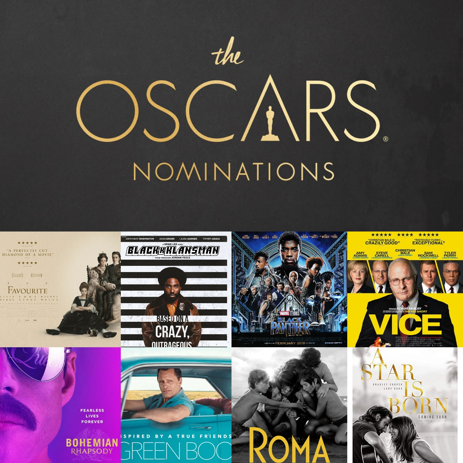 Oscar Nominations 2019 - Amanda is joined by her annual Oscars Crew, Stephen and Colleen, to discuss this year's Oscar Nominations. Who was snubbed and who they're excited about are all explored. Stephen might like The Favourite, Colleen kills it at music trivia and Amanda has some strong feelings about Best Original Screenplay.
