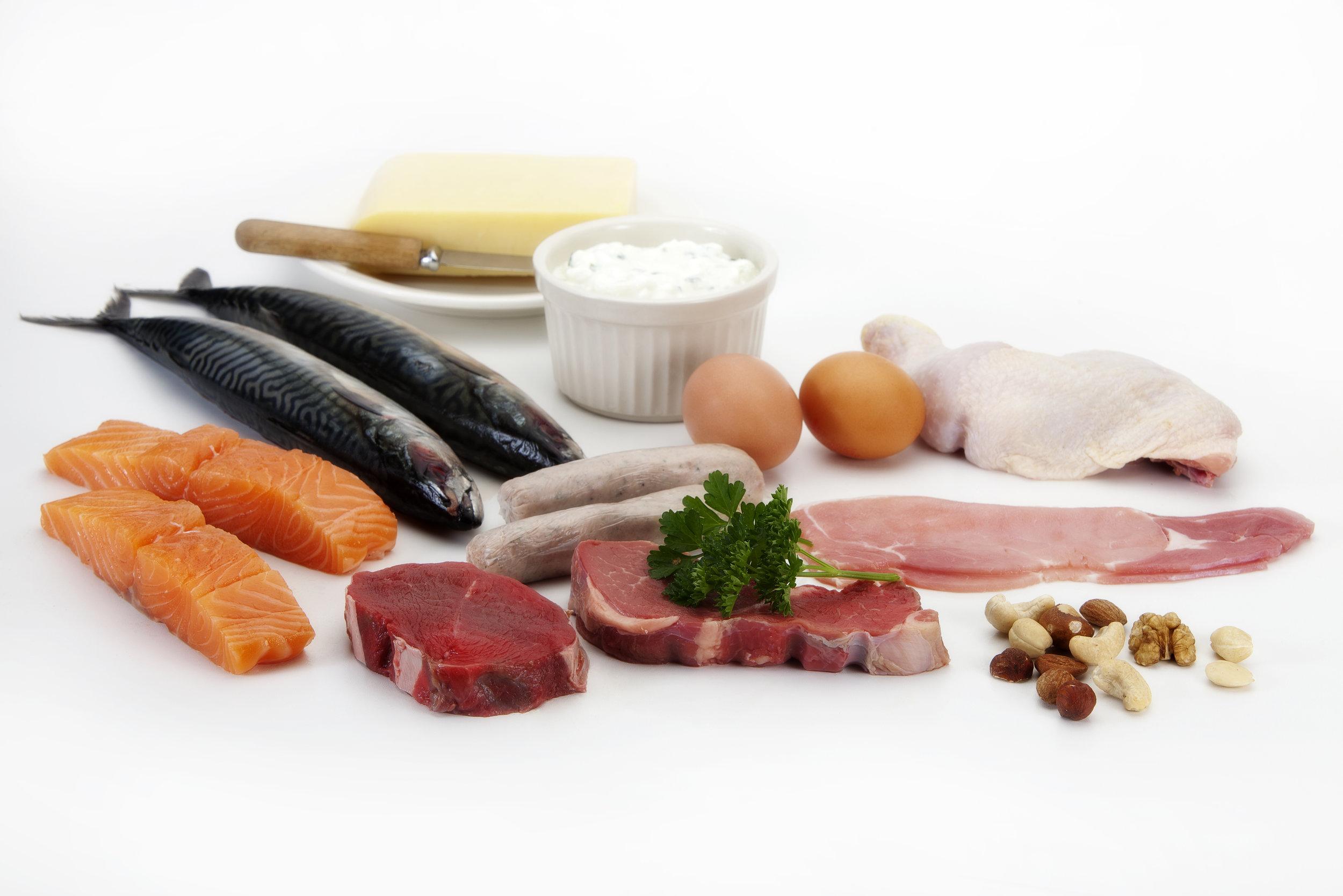 Carne, pesce e uova -