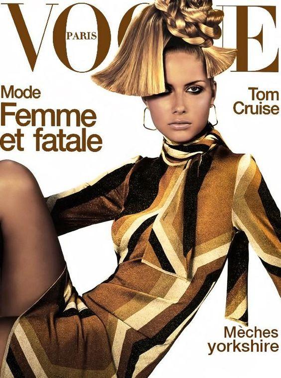 PARIS VOGUE - AUGUST 2000 COVER MODEL - ANA CLAUDIA MICHELS