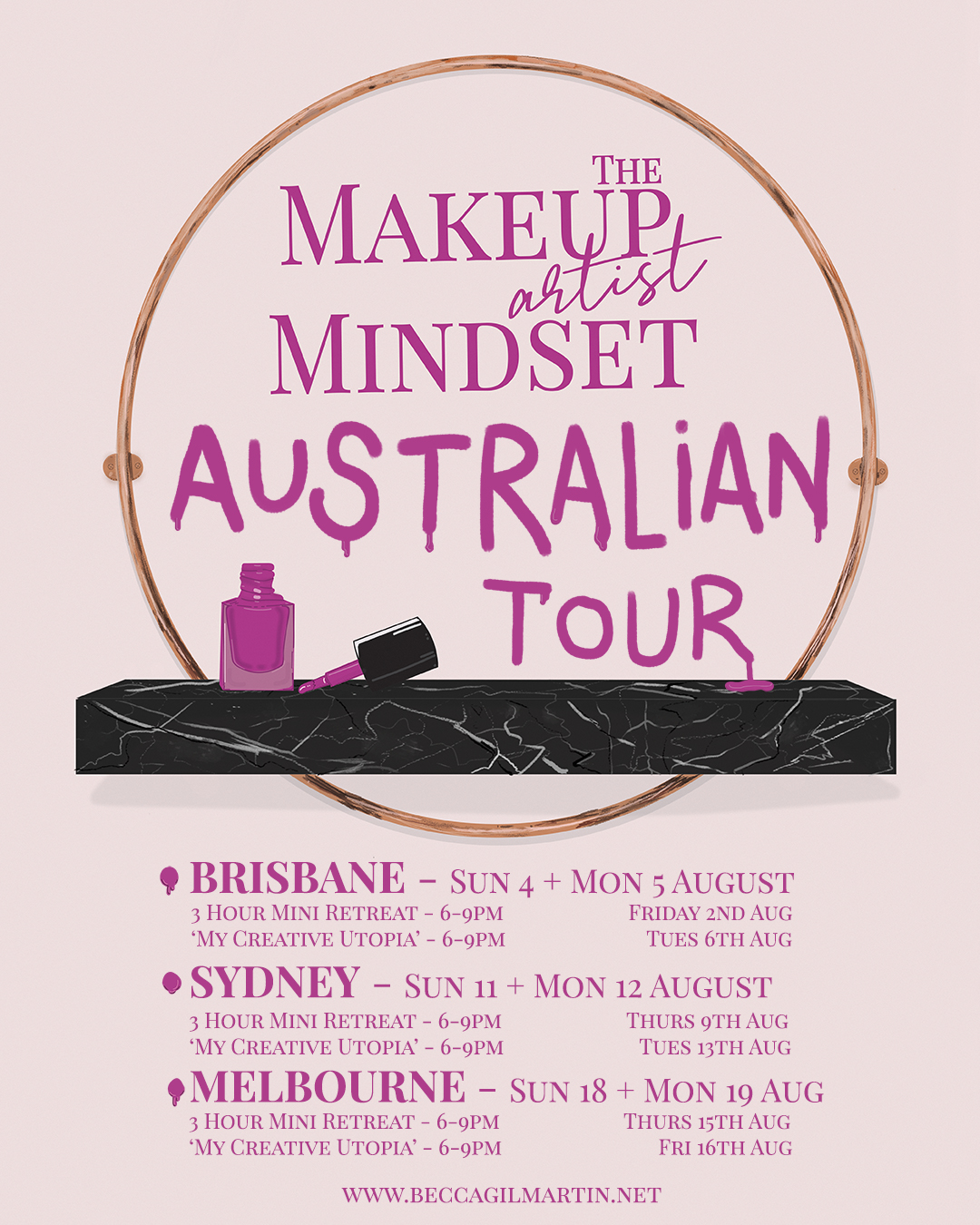 The Australian Tour dates for the new MUA Retreat are in! …
