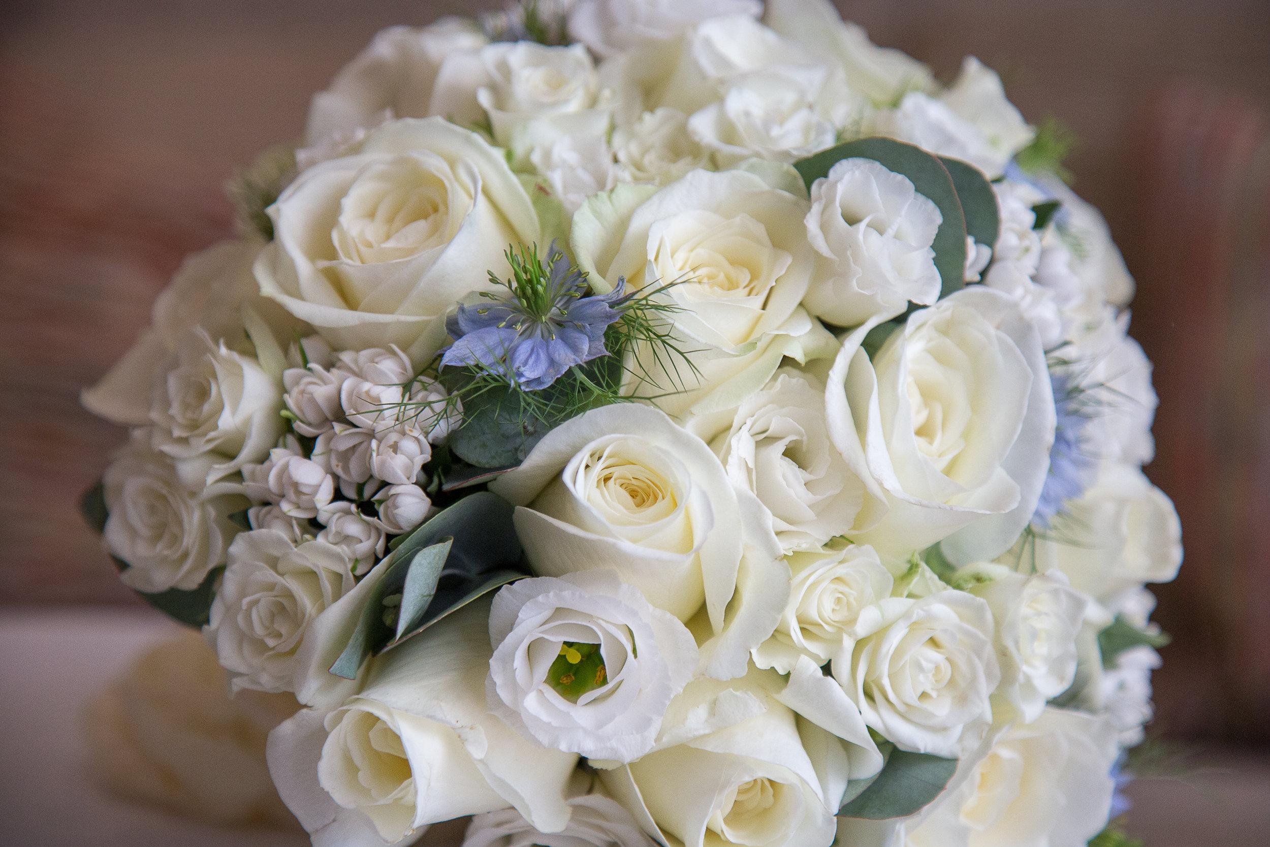 Sadie and Gary - White and Blue Wedding