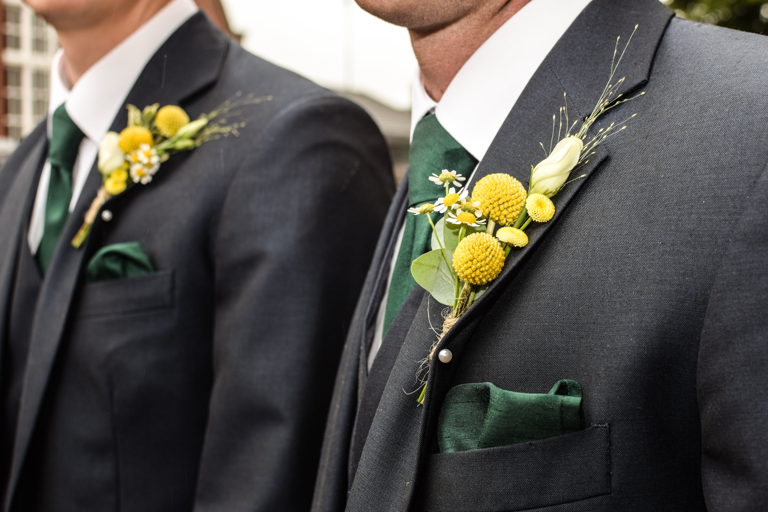 Yellow Craspedia Buttonholes.jpg