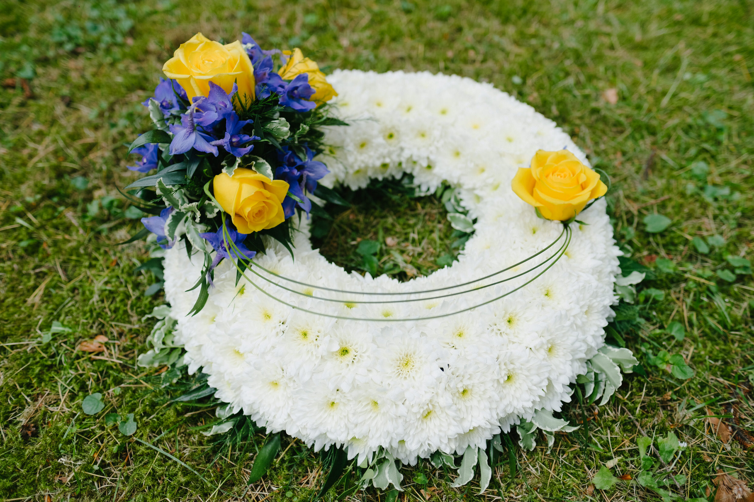 Based Funeral Wreath - Foliage Edge and Grass.jpg