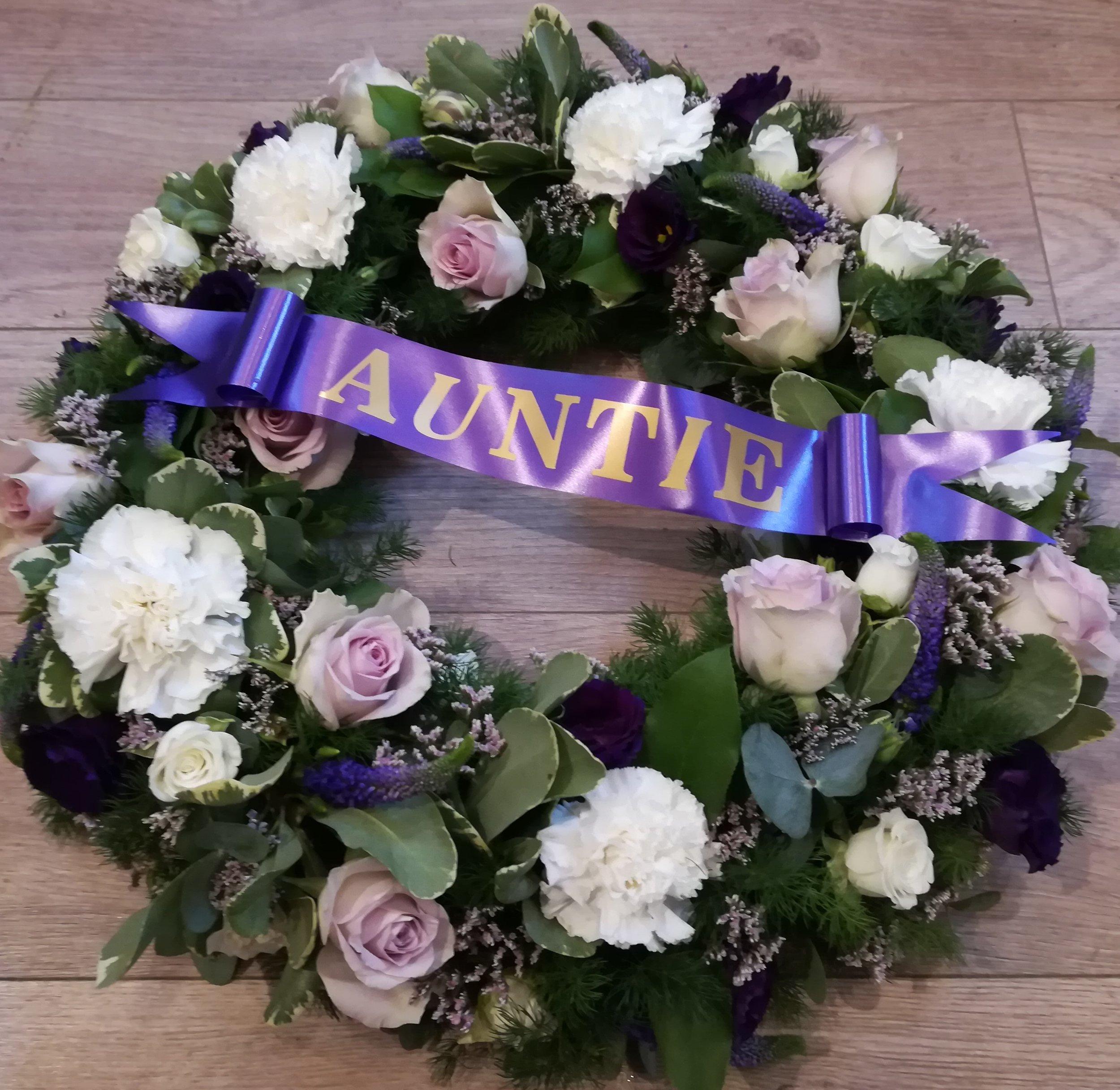 Purple and White Wreath - Auntie.jpg