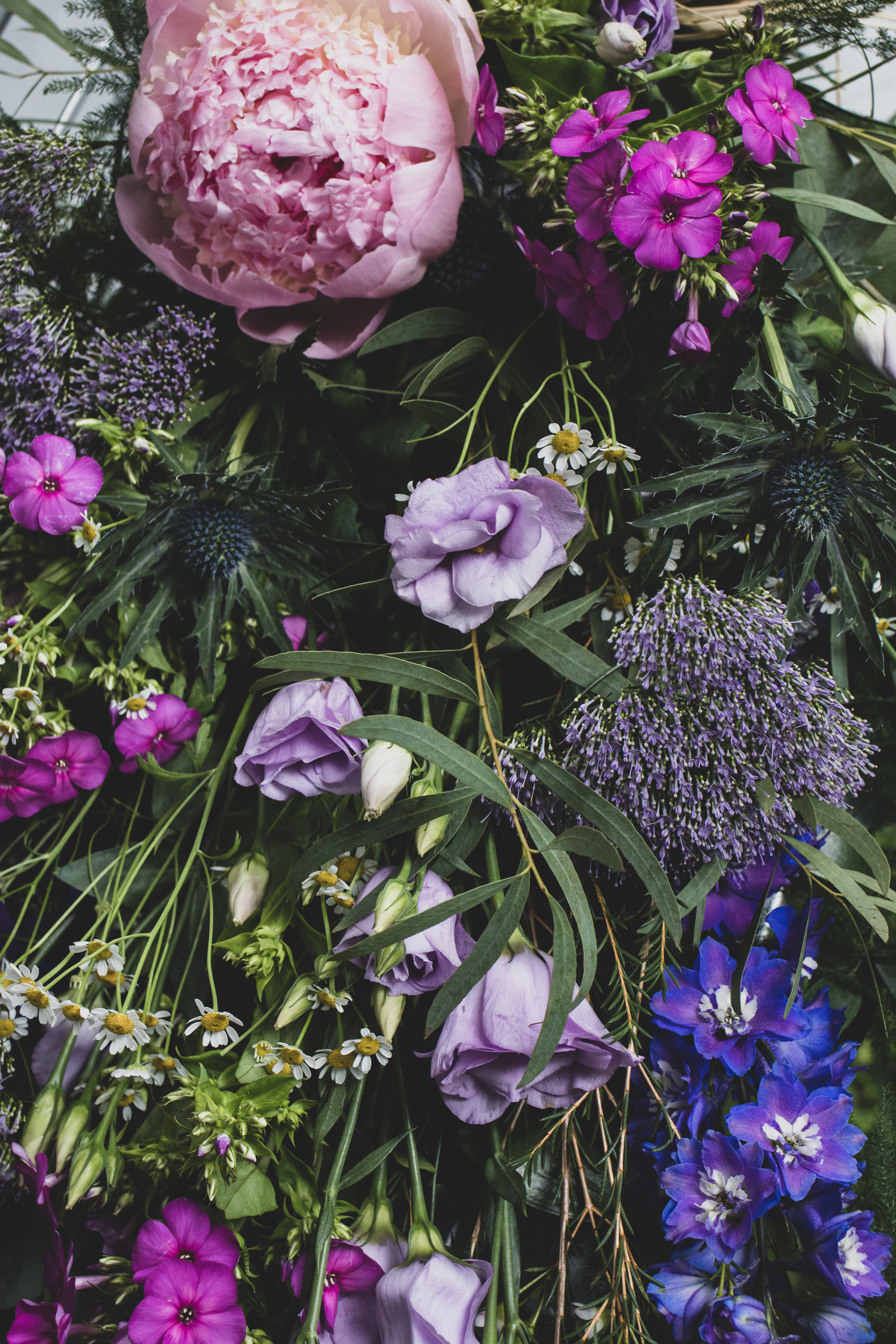 Funeral Sheaf - Inc. Pink Peonies and Delphiniums.jpg