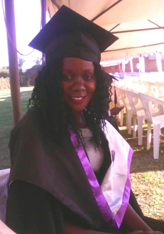 Akitwi Pamela on graduation day!