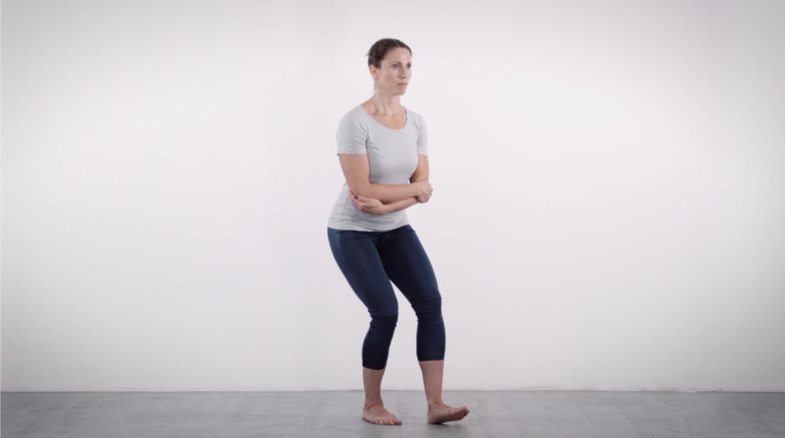 Single-leg squat in Easy-Mode