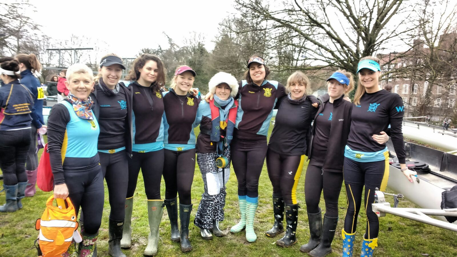 WeHoRR 10th March 2018 - W2 Crew - Left to Right - Sarah Catchapole, Sophie Coope, Gemma Douglas, Laura Dallaway, Elle Outram (Cox), Meg Barne, Nikki Braithwaite, Catherine Quinn and Alicia Wilcox