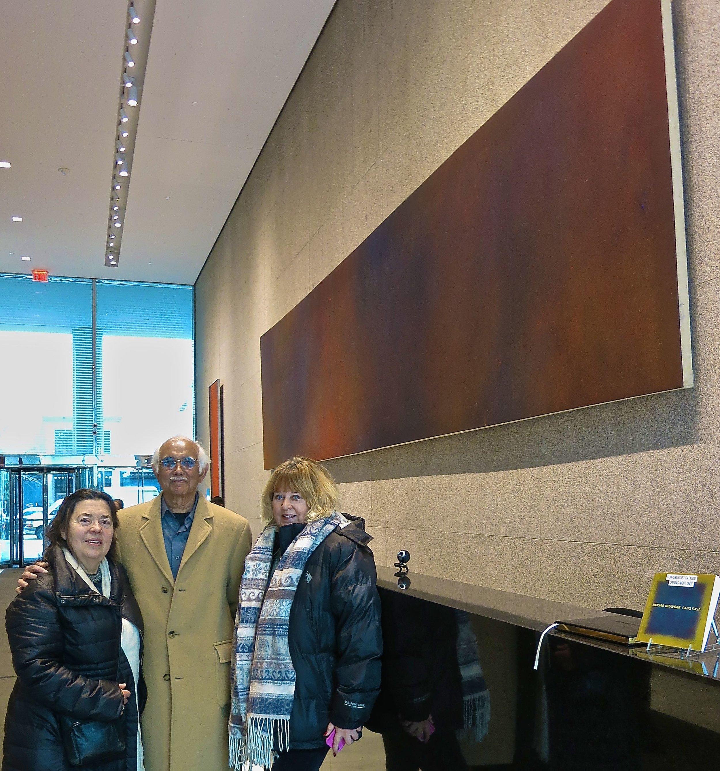 Janet + Natvar Bhavsar w/Carol Mallory and THEER-A-THEER-A '70 @Tower 49 RANG RASA exhibition