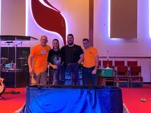 L-R: Pastor Tim, Jody Fagan, Linas Reed, Mike Cockson (CR Ministry Team Leader)