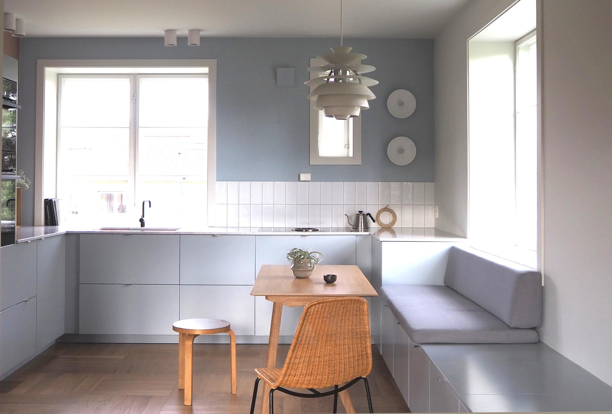 Kjøkkenet er designet av Alex Ark. Produkter fra IKEA, Studio10 og KollektedBy.