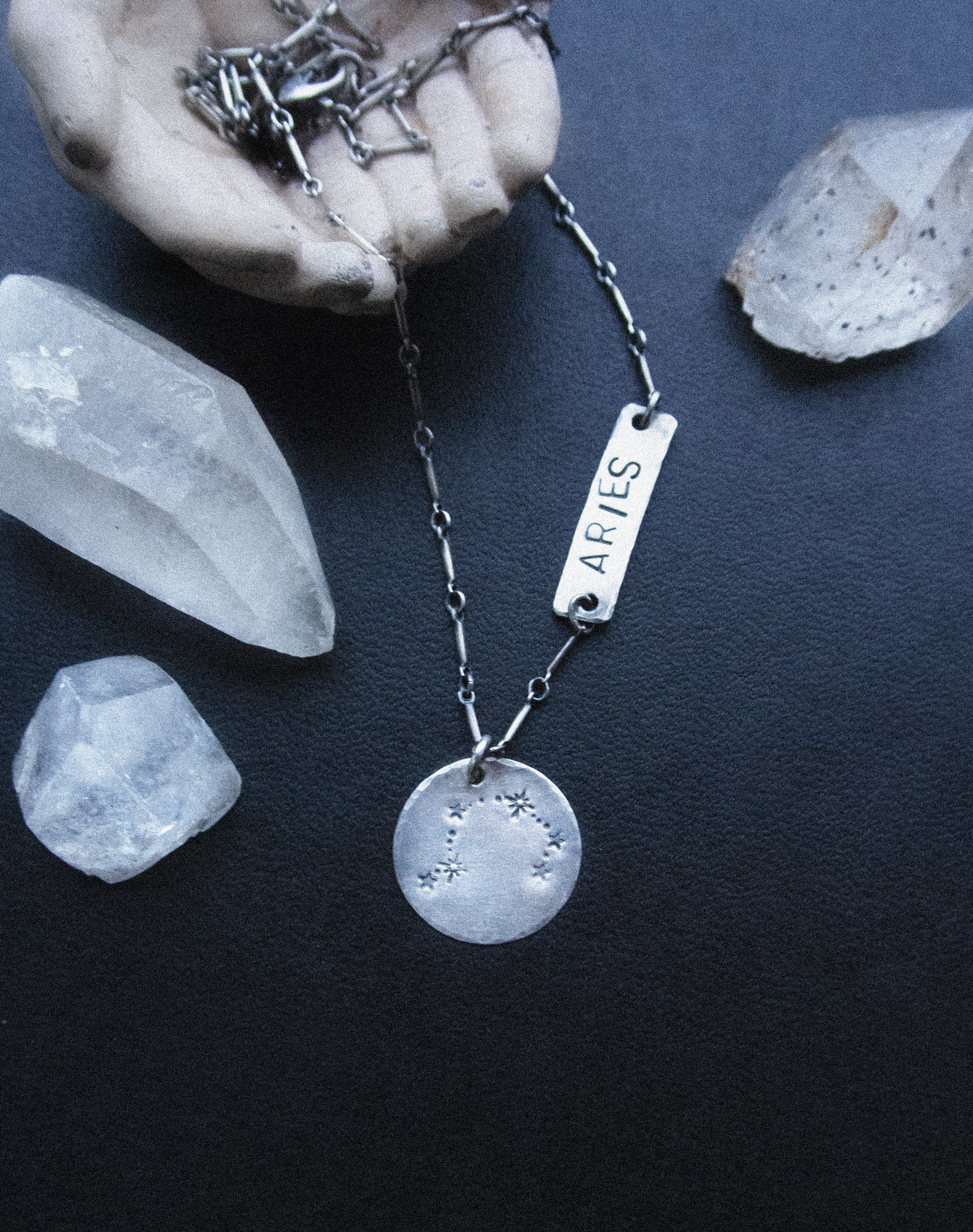 - In this class you will take home your own sterling silver necklace made by you! You will also get a stamping block and a stamp to keep so that you can start building your home studio.