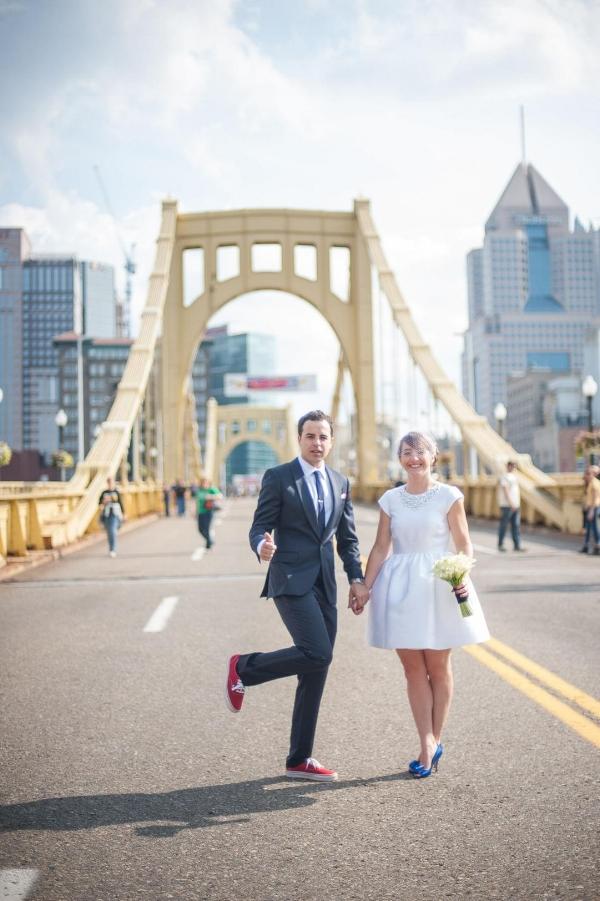 Image Source:  Borrowed & Blue    Bonus: It's a Pittsburgh wedding!