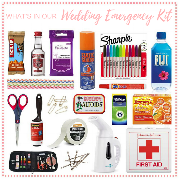 What to pack in a wedding emergency kit