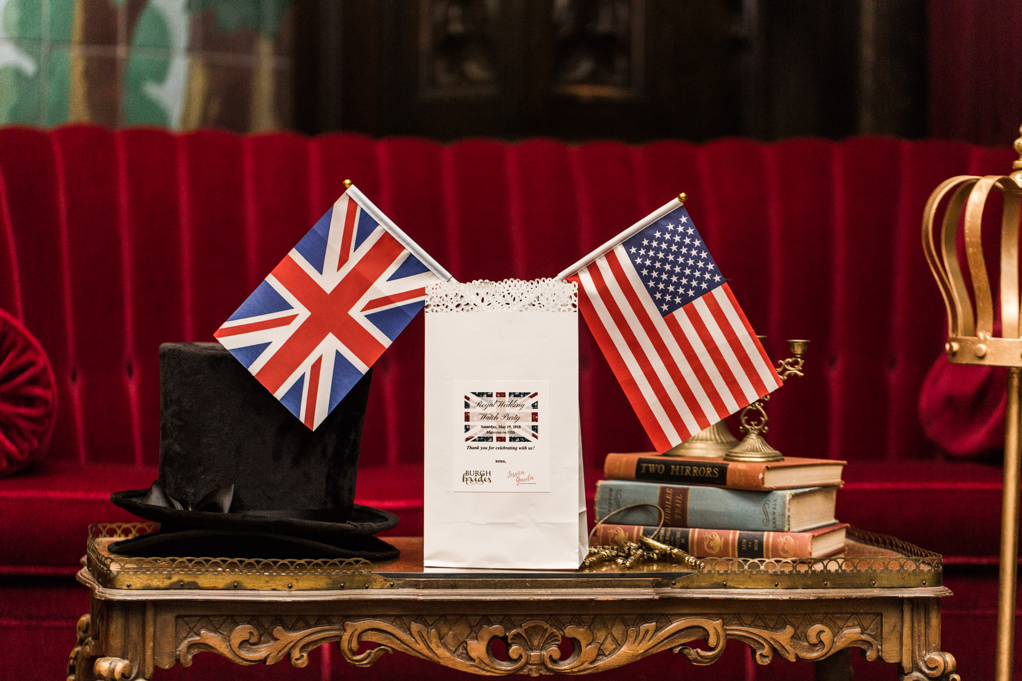 Pittsburgh Wedding Planner - Royal Wedding Watch Party - British themed favor bags
