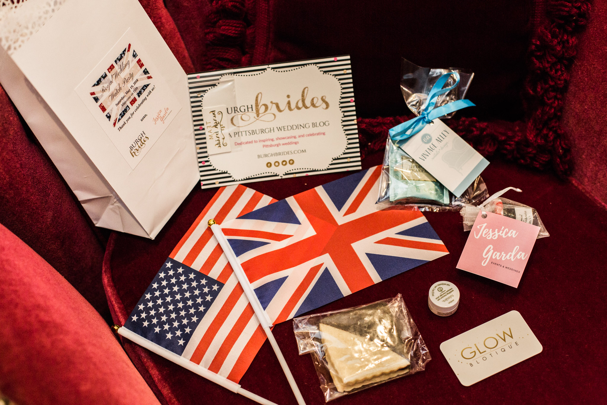 Pittsburgh Wedding Planner - Royal Wedding Watch Party - British themed favor bag