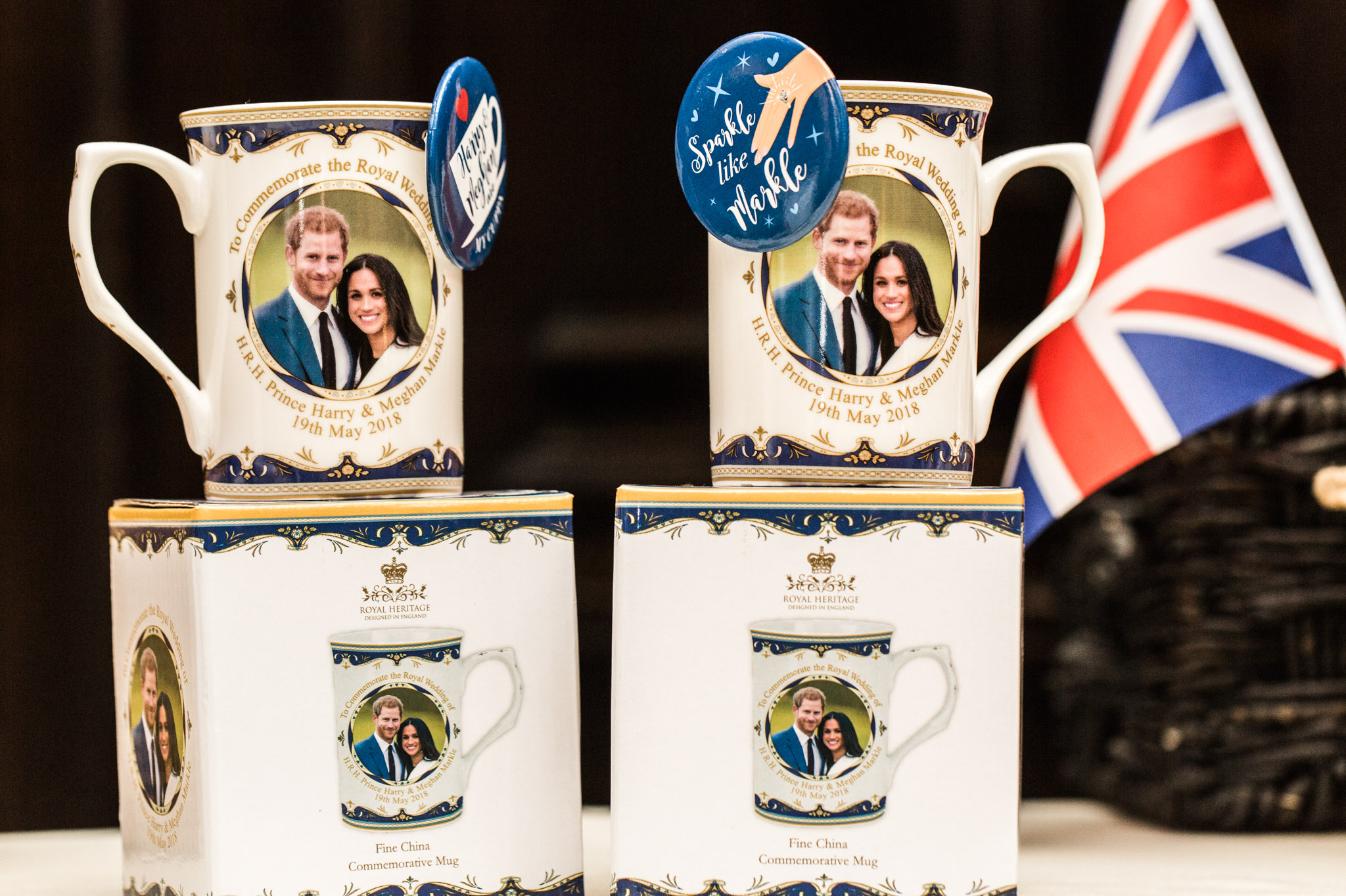 Pittsburgh Wedding Planner - Royal Wedding Watch Party - Royal Wedding Harry Meghan Commemorative Mugs