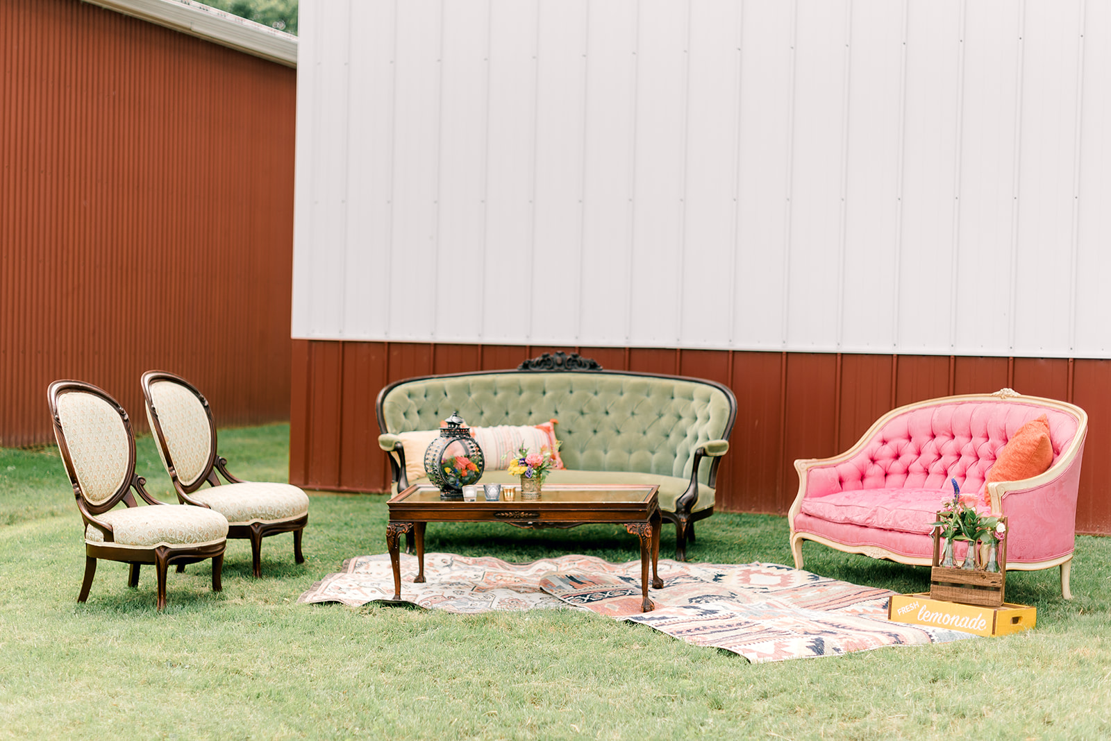 Fun & Colorful Barn Wedding Lounge at Heaven Sent Farms in Avella Dawn Derbyshire Photography (8).jpg