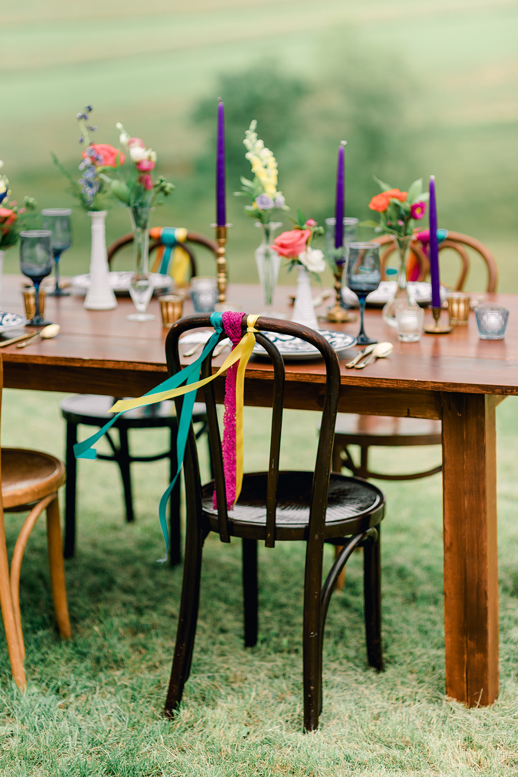 Fun & Colorful Barn Wedding Tablescape at Heaven Sent Farms in Avella Dawn Derbyshire Photography (3).jpg