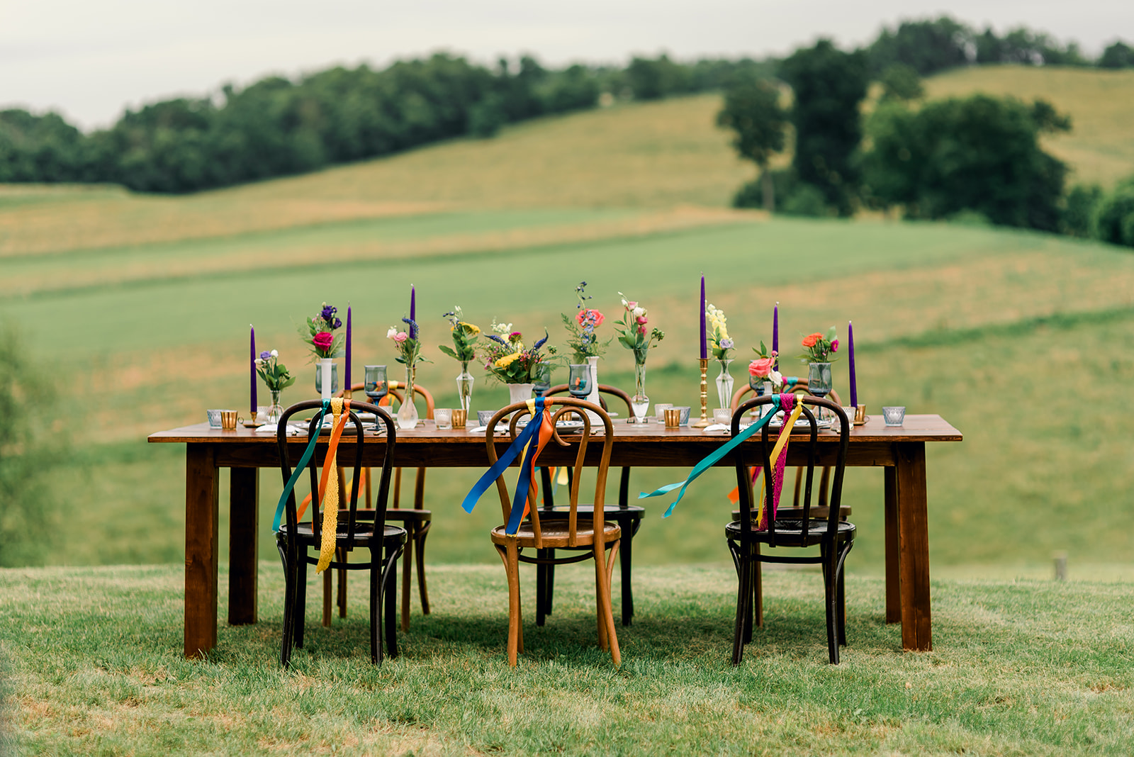 Fun & Colorful Barn Wedding Tablescape at Heaven Sent Farms in Avella Dawn Derbyshire Photography (2).jpg