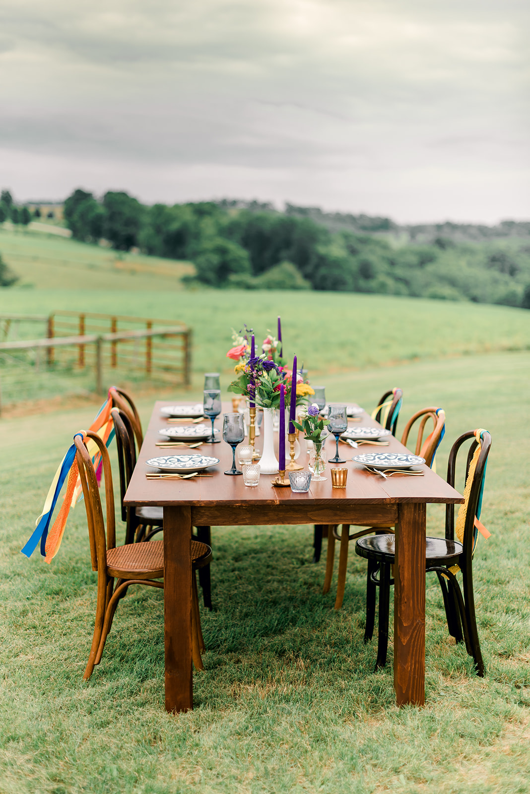 Fun & Colorful Barn Wedding Tablescape at Heaven Sent Farms in Avella Dawn Derbyshire Photography (24).jpg
