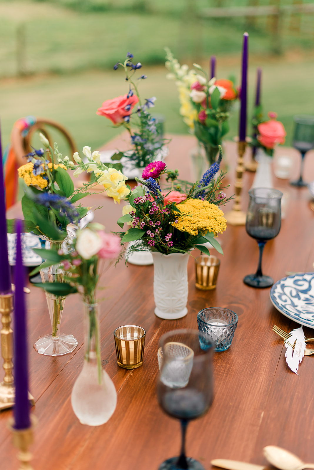 Fun & Colorful Barn Wedding Tablescape at Heaven Sent Farms in Avella Dawn Derbyshire Photography (28).jpg