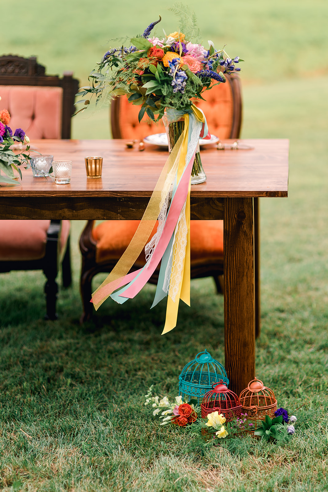 Fun & Colorful Barn Wedding Sweetheart Table at Heaven Sent Farms in Avella Dawn Derbyshire Photography  (14).jpg