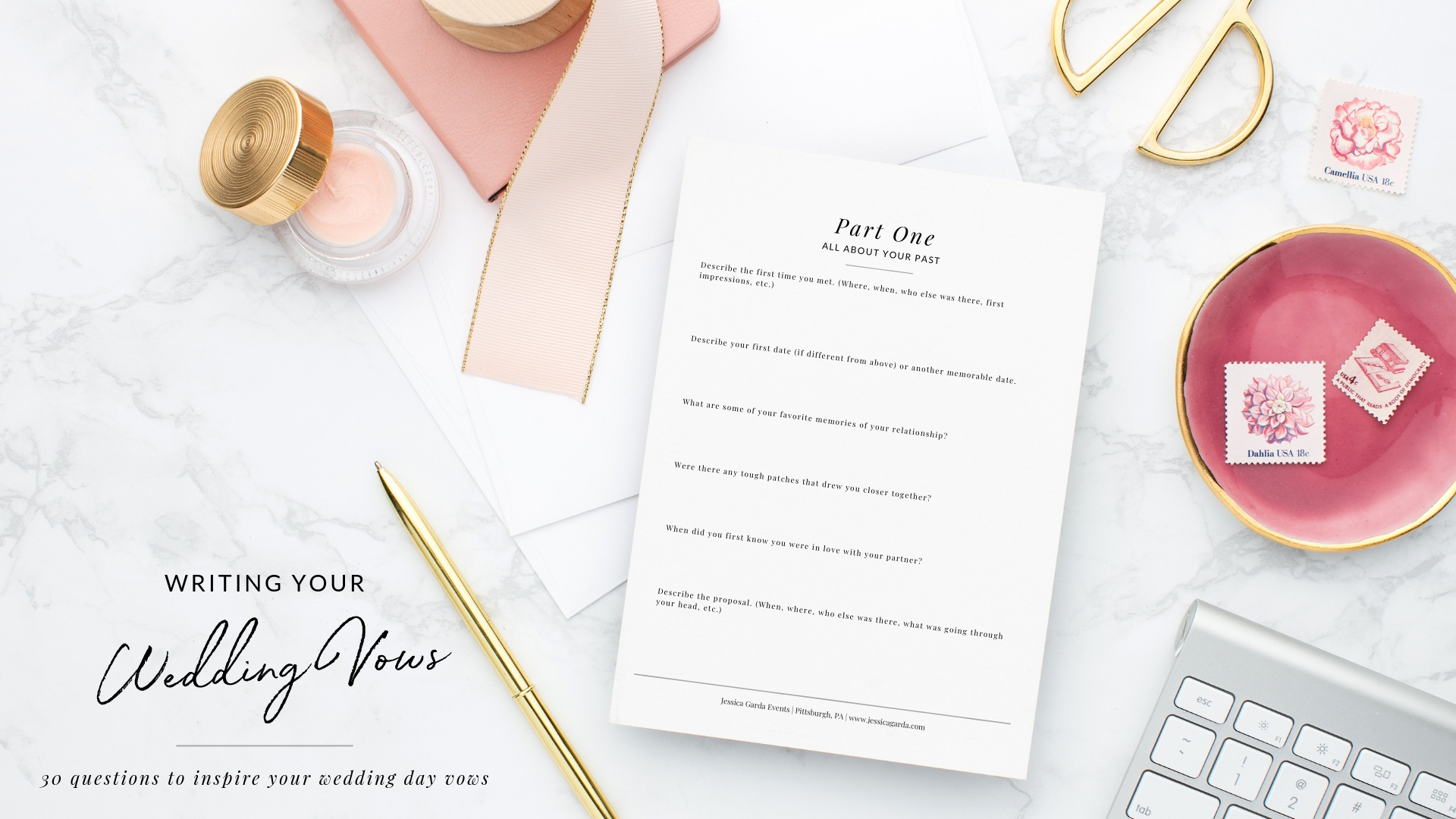 How to write your wedding vows - printable workbook