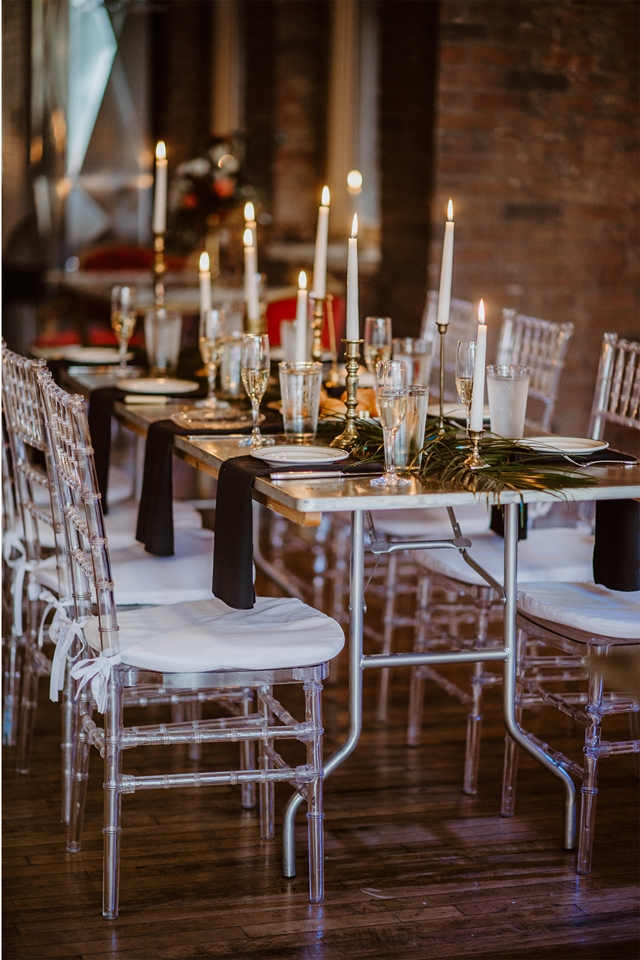 Industrial Glam Wedding Hip at the Flashlight Factory Pittsburgh Wedding Planner Candle Decor.jpg