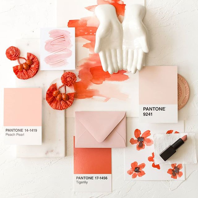 "Chances are that your ""blush"" and my ""blush"" are probably different. Same goes for what your florist and stationer call ""blush"". That's why it's always helpful to have a point of reference at your design meetings. . This could be as simple as a fabric swatch or as OCD as a @pantone PMS number (🙋‍♀️). Whatever you use, it'll go a long way towards a confession look on your wedding day. . #popofcolor #colorfulwedding #pantone #burghbrides #wvwedding #weddingplanner #eventplanner #eventdesign #colorpalette #pittsburghweddingplanner #paweddingplanner #loveoutloudevents #livecolorfully"