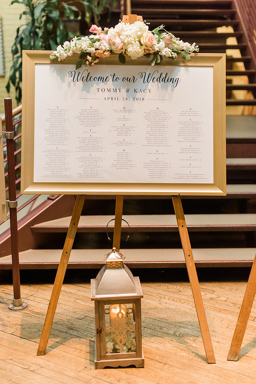 Seating Chart from Kacy & Tommy's Romantic Blush Wedding