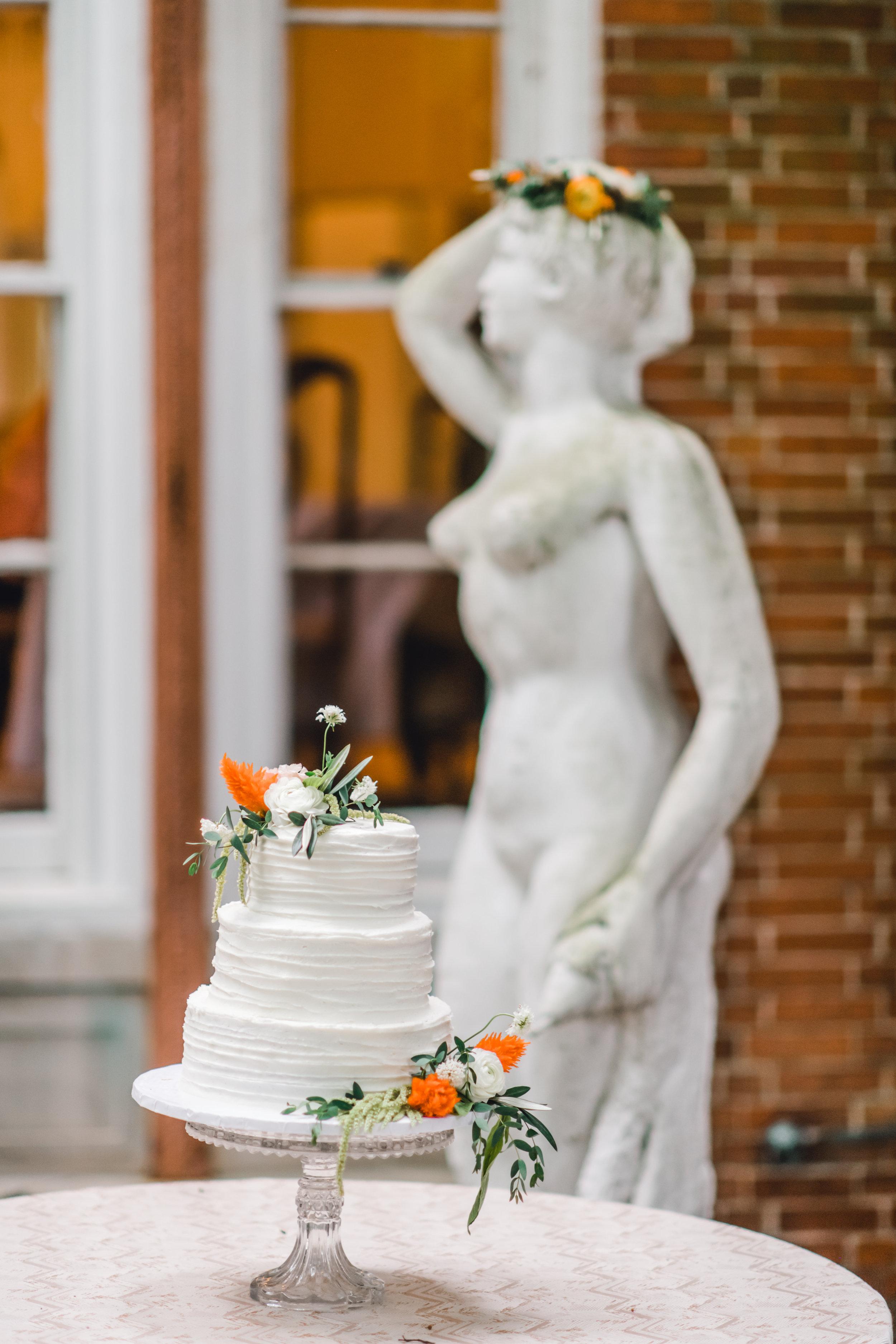 Pittsburgh Wedding Planner Mansion in Butler White Buttercream Cake