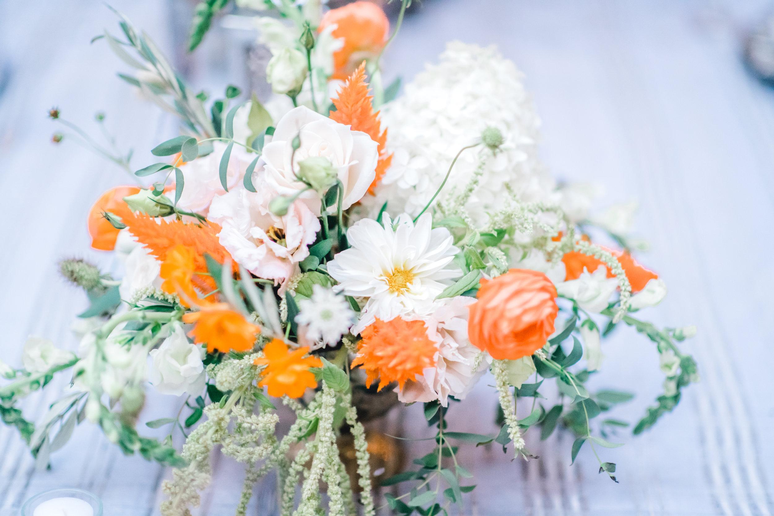 Pittsburgh Wedding Planner Mansion in Butler European Old World Inspiration Blue White Orange Flowers