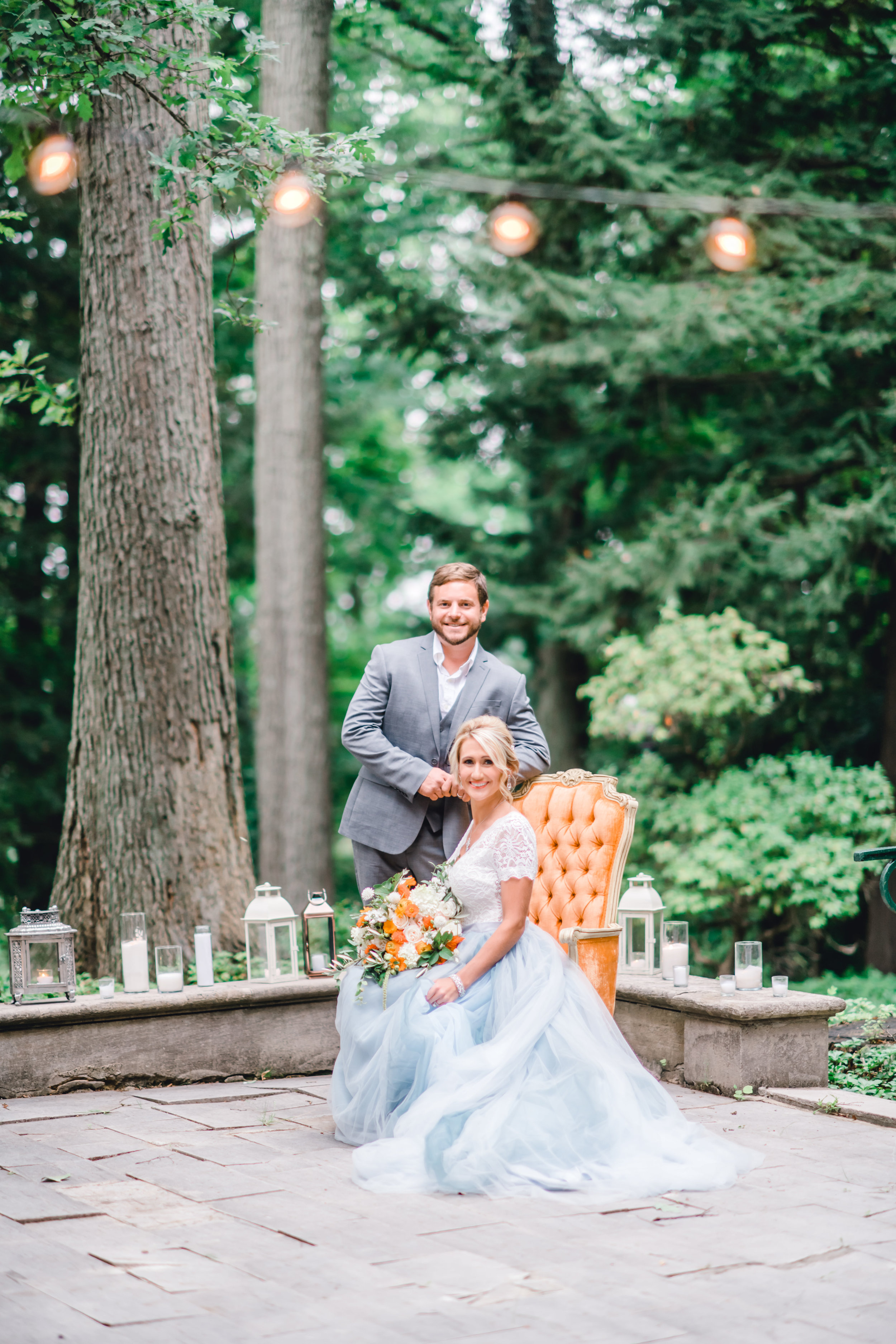 Pittsburgh Wedding Planner Mansion in Butler European Old World Inspiration Blue Wedding Dress