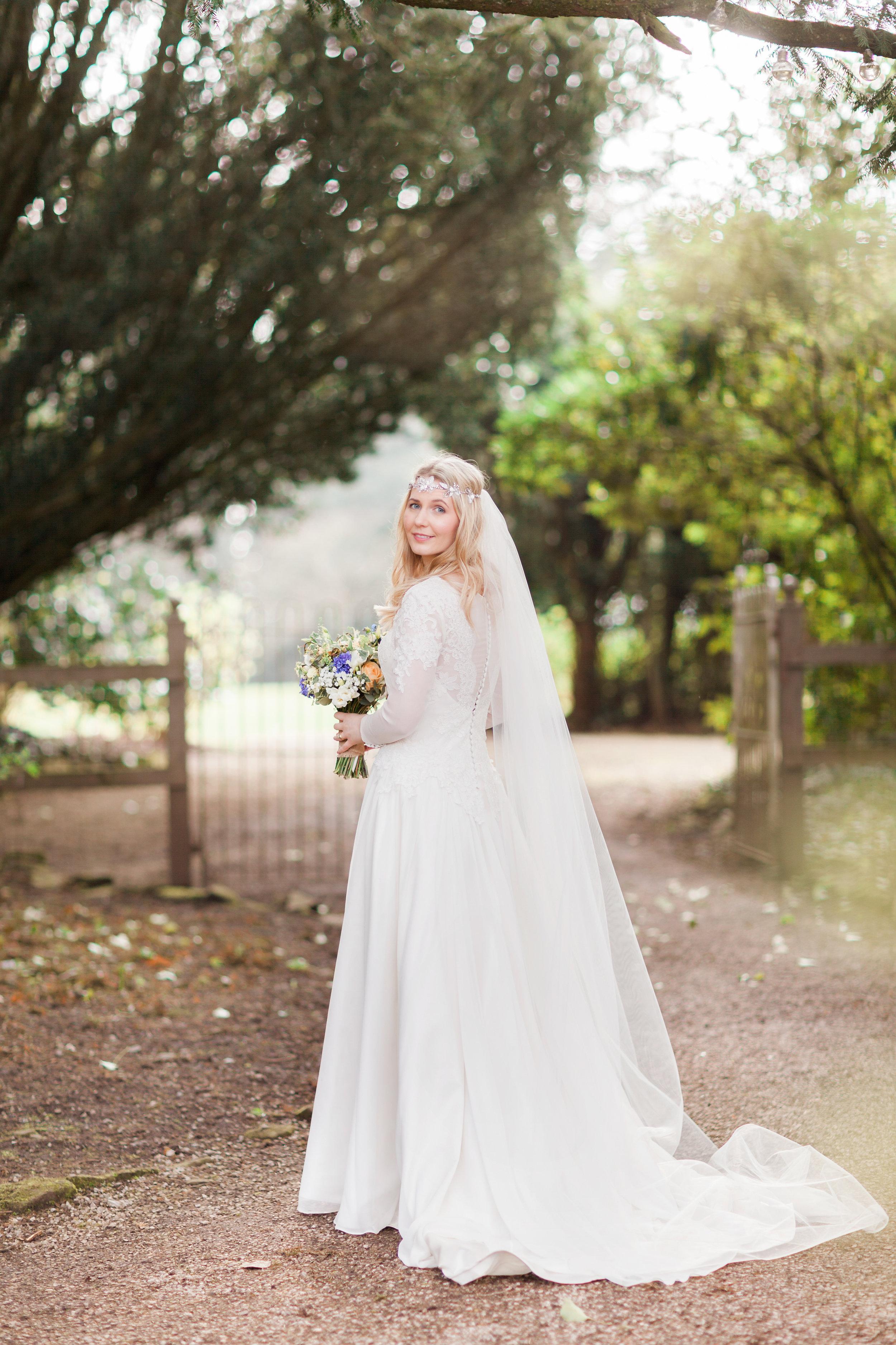 Bride walking to Wedding