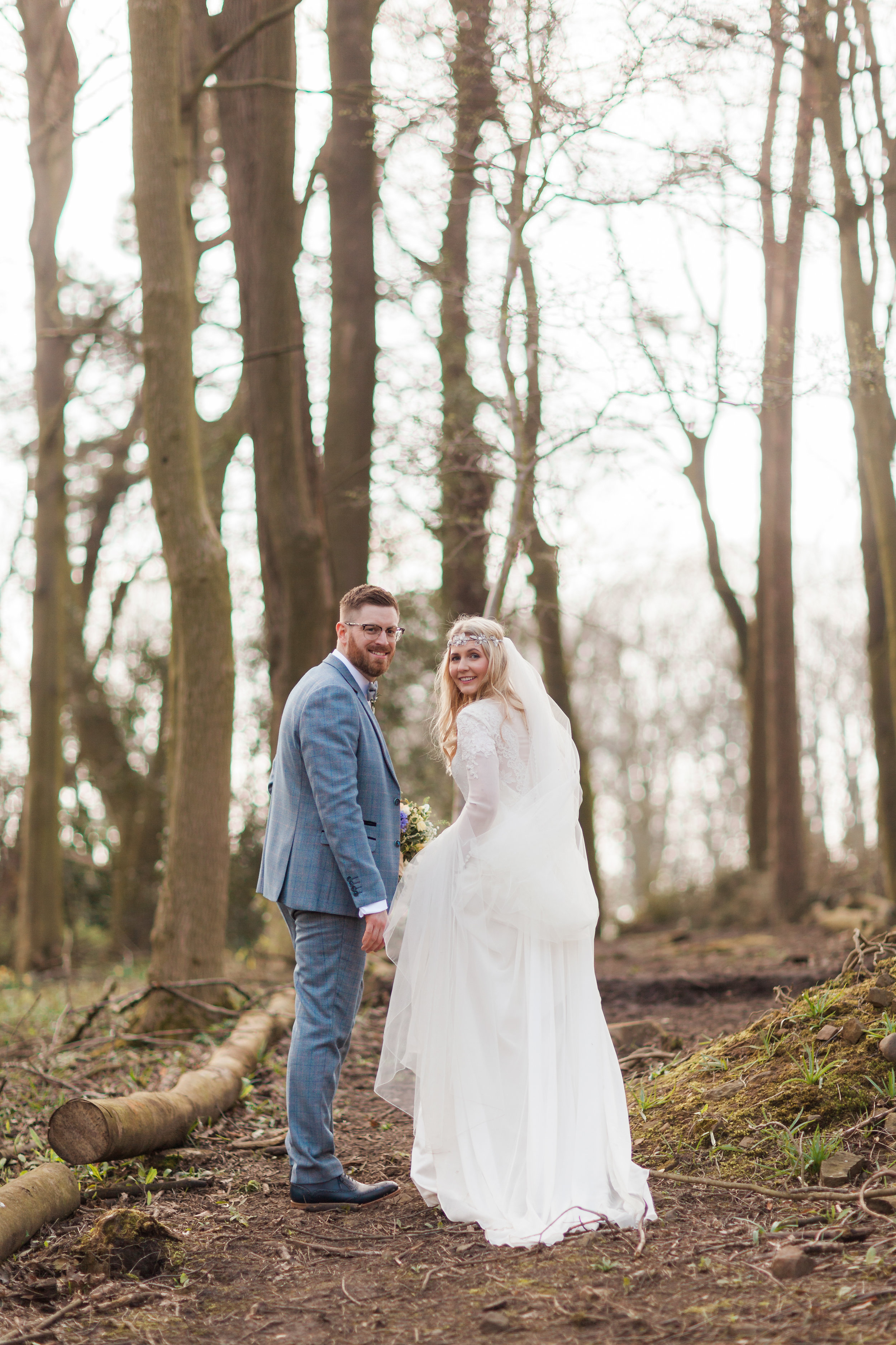Married Couple in Woods