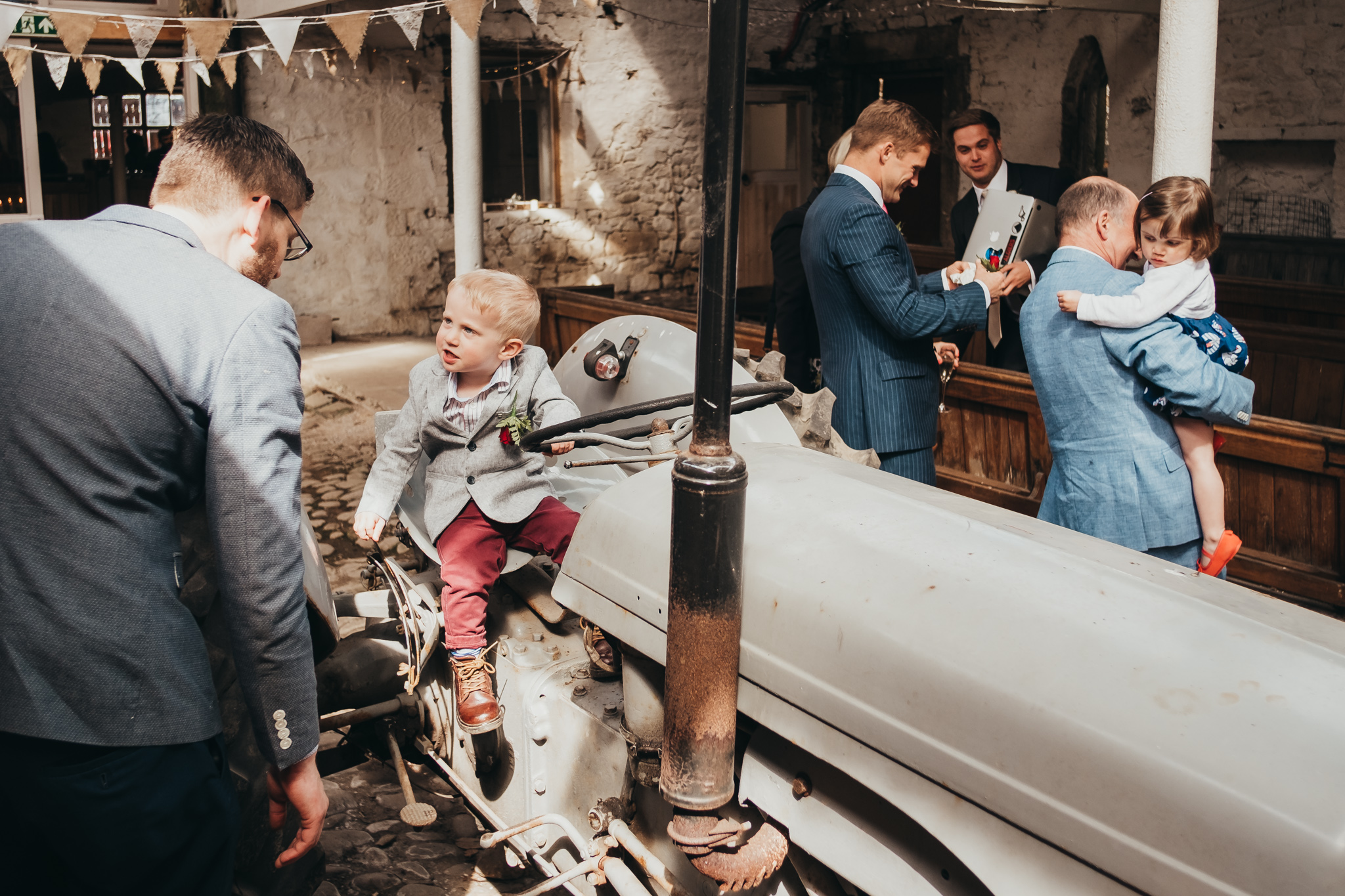 Tractor Barn with Family