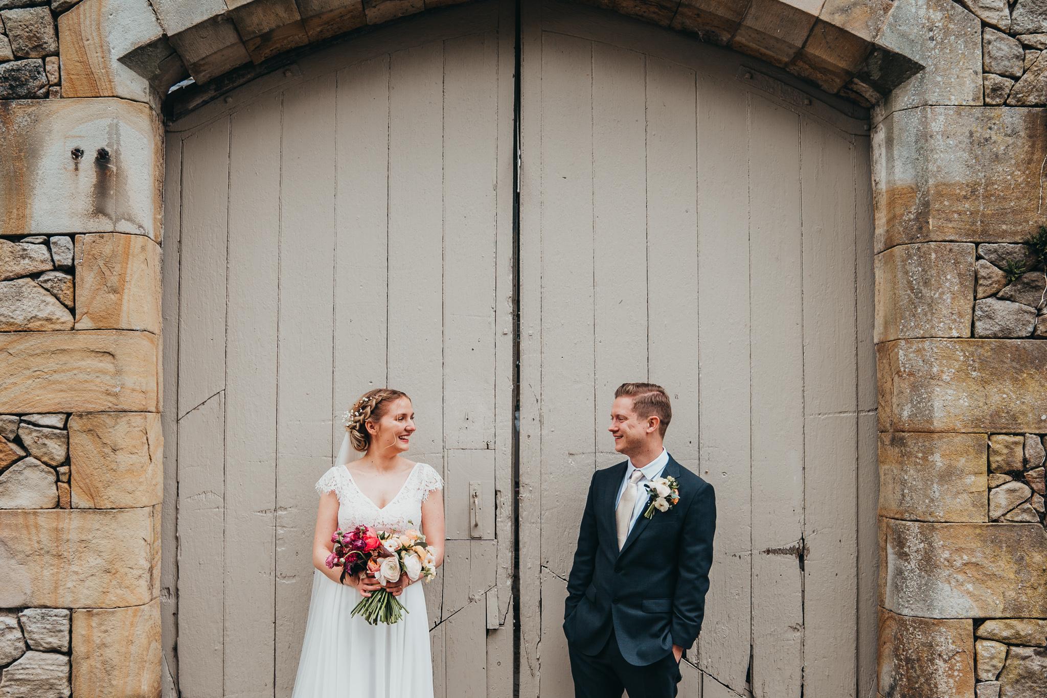 Barndoors Bride and Groom