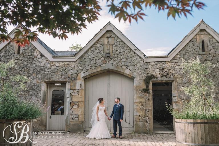 Barn Door with Bride and Groom