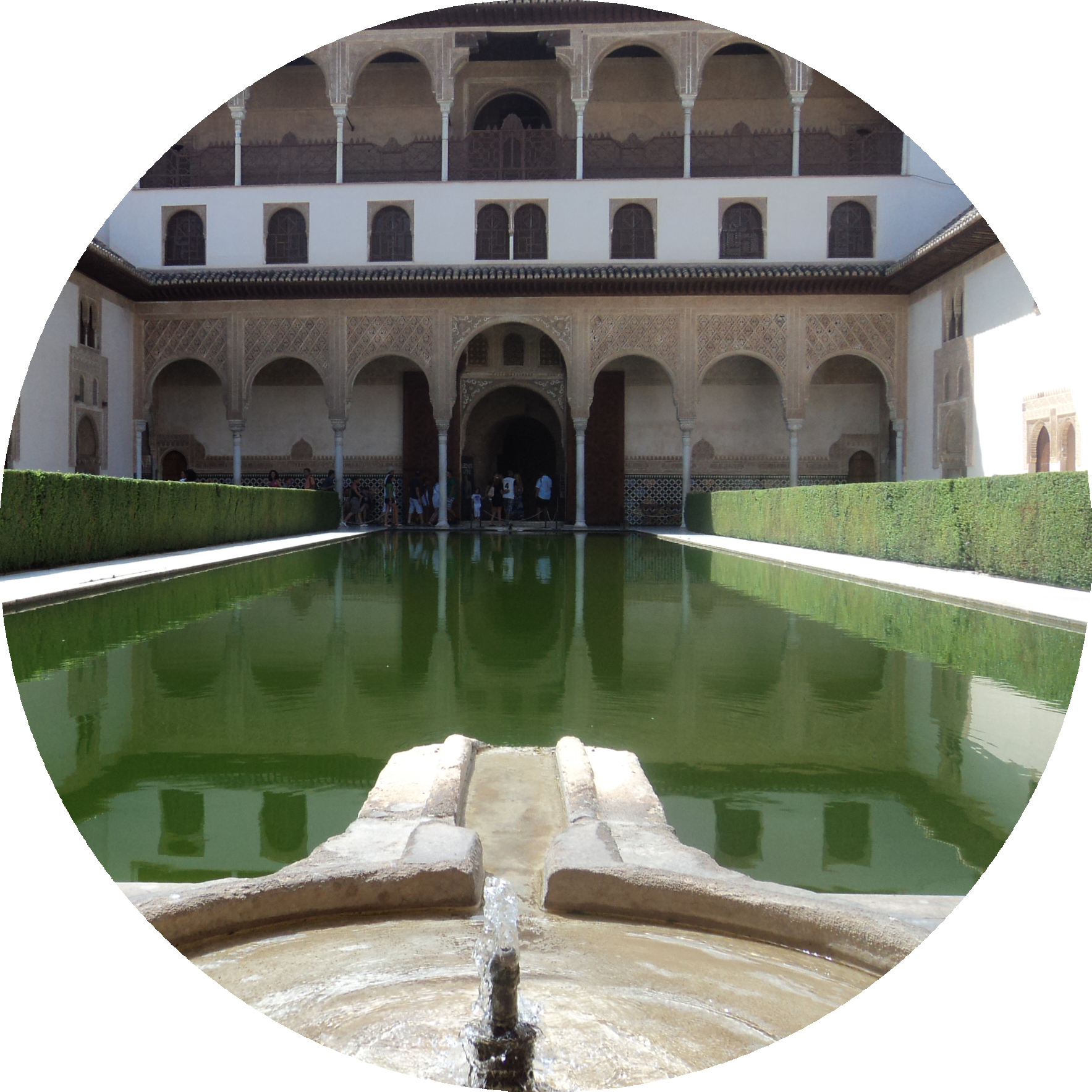 - Court of the Myrtles at the Alhambra. No, the picture isn't centered, shhhhh.