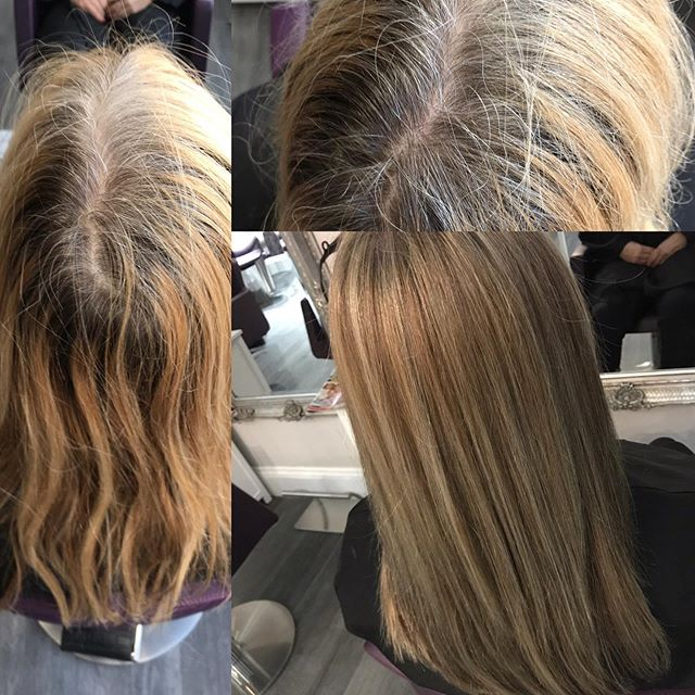 Transformation Tuesday! Colour correction overdue by Janet @TheParlour #matrixcolor #synccolorbymatrix #lightmaster #lowlights #theparlourbrighton