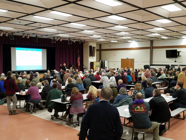 Part of the audience that turned out for the Community Voices meeting on Dec. 11.