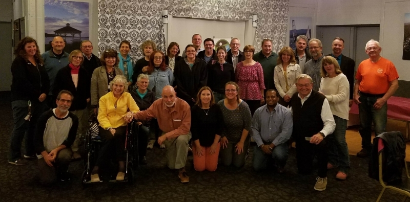 Photo by Danielle Barbour Warwick residents gather at the Elks Lodge in Greenwood Lake to launch three new Community2gether projects.