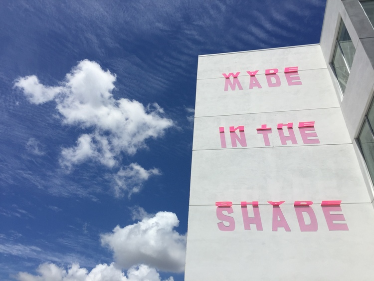 MADE IN THE SHADE by artist Jessy Nite; part of the Sun Installation Series.  Check her work out!