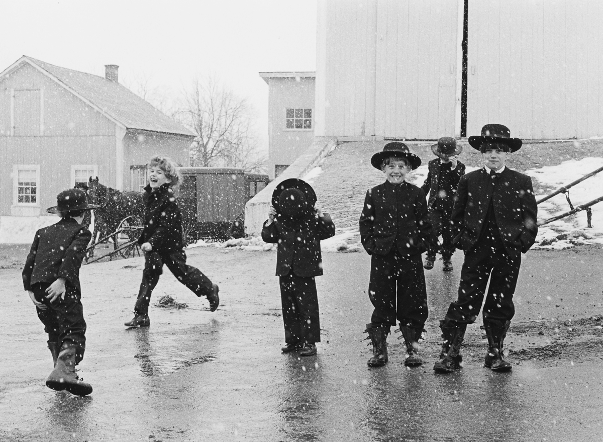 George Tice - Amish Children in the Snow, 1969[Watch Video]