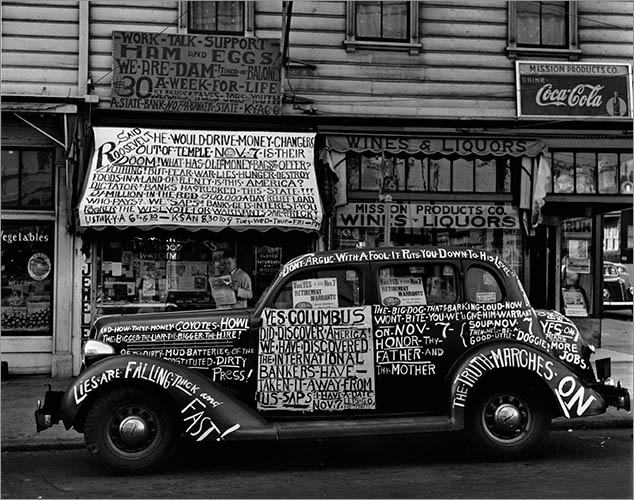 """Yes, Columbus Discovered America!"""", San Francisco, 1938"""