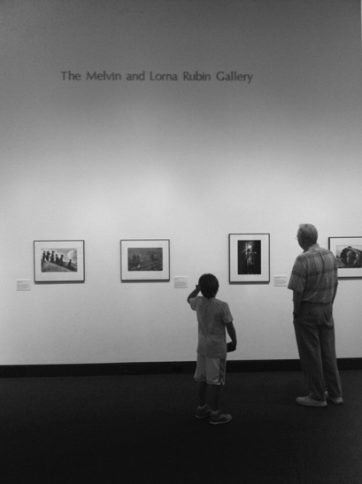 My father and my son. The Harn Museum, Florida (July 2011)