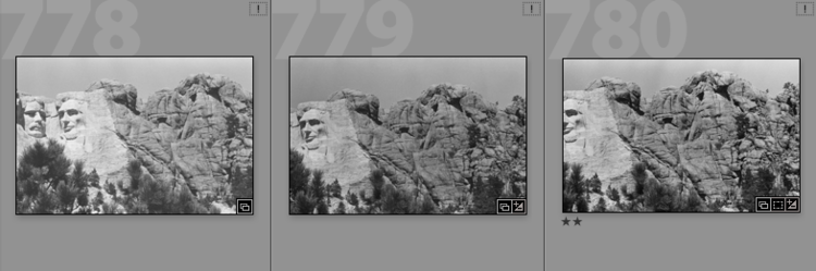 Reframing the classic shot of Mt. Rushmore (1984). In the end, I just wanted enough of the monument to identify where you were…