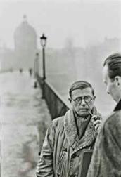 Jean-Paul Sartre, by Henri Cartier-Bresson (1946)