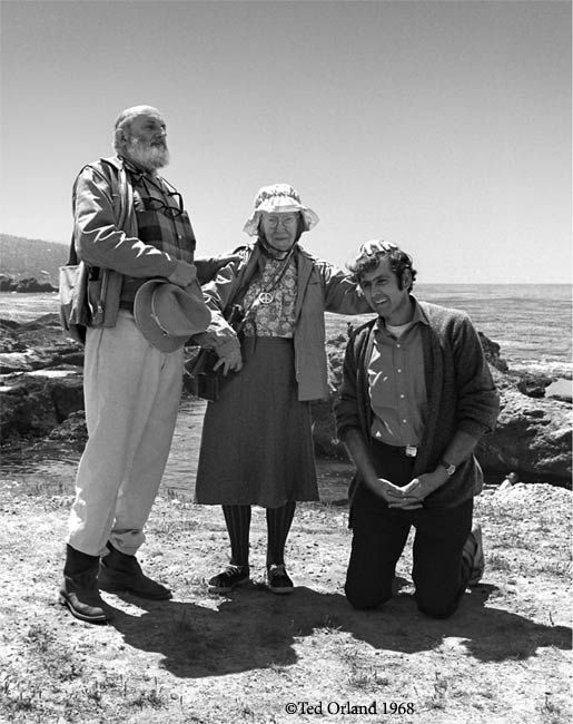 Legends of photography. Ansel Adams, Imogen Cunningham and Jerry Uelsmann. Photo by Ted Orland, 1969